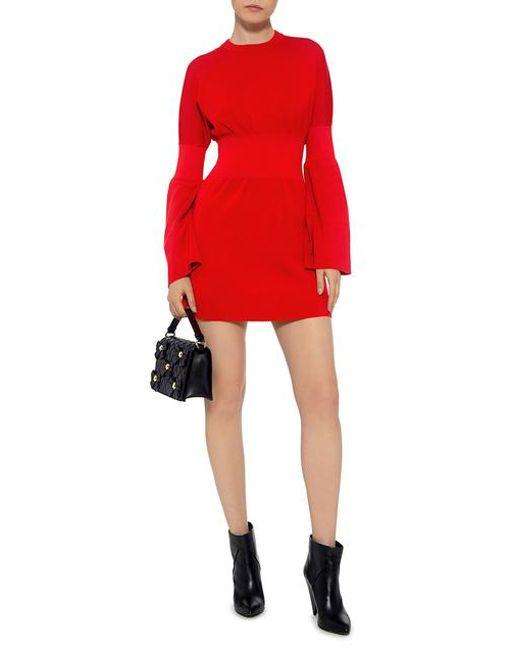 Wiki Online Cheap 100% Guaranteed Merino Wool Bell Sleeve Knit Mini Dress Ribbon Red Tibi Latest Collections Cheap Online Jcmqead4Q