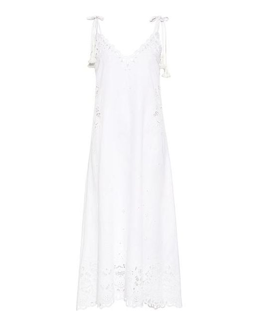 Theory - White Taytee Embroidery Eyelet Slip Dress - Lyst