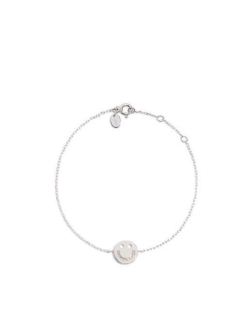 Ruifier - Metallic Friends Happy Smiley Chain Bracelet - Lyst
