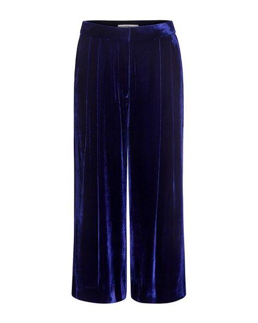 Tibi - Blue Silk Velvet Culottes - Lyst