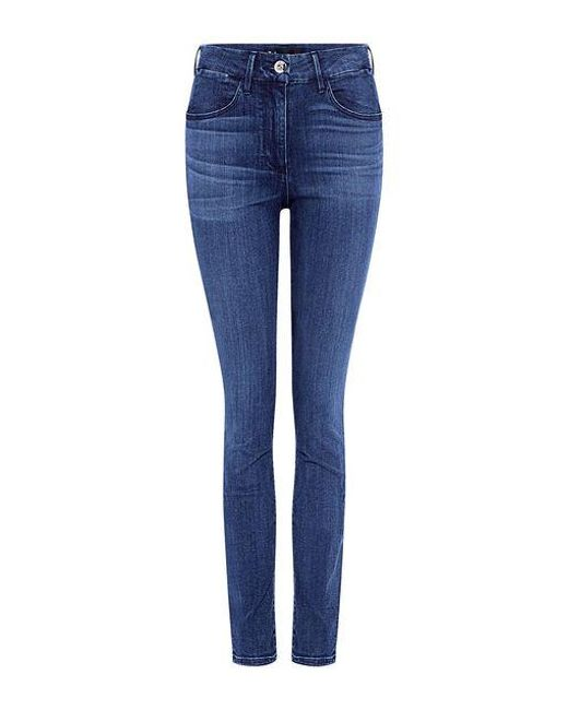 3x1 - Blue High Rise Channel Seam Skinny Jeans - Lyst