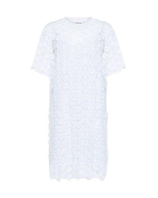 Carven - White Daisy Mini Dress - Lyst