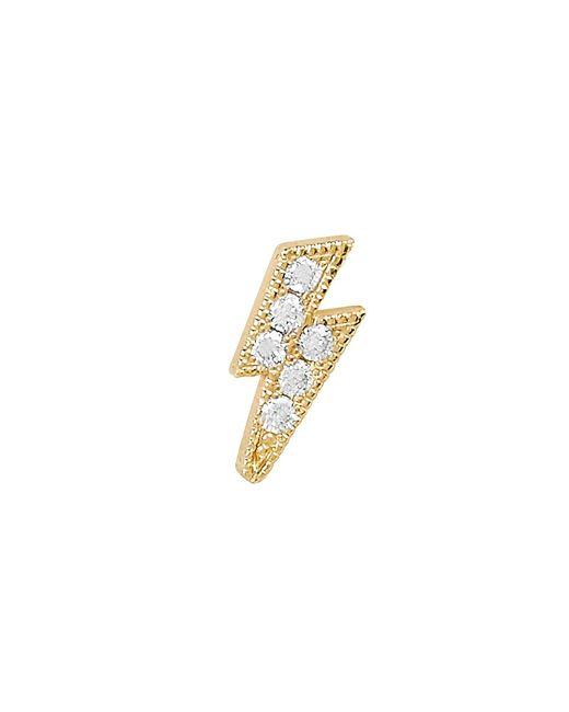 c572b8ea8 Zoe Chicco - Metallic Lightning Bolt Single Stud Earring - Lyst ...