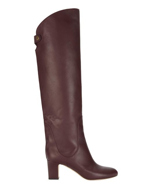 Jimmy Choo - Red Minerva Vino Over-the-knee Boots - Lyst