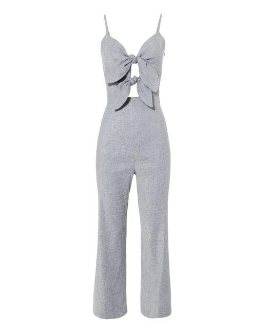 Intermix - Multicolor Jenny Double Tie Front Jumpsuit - Lyst
