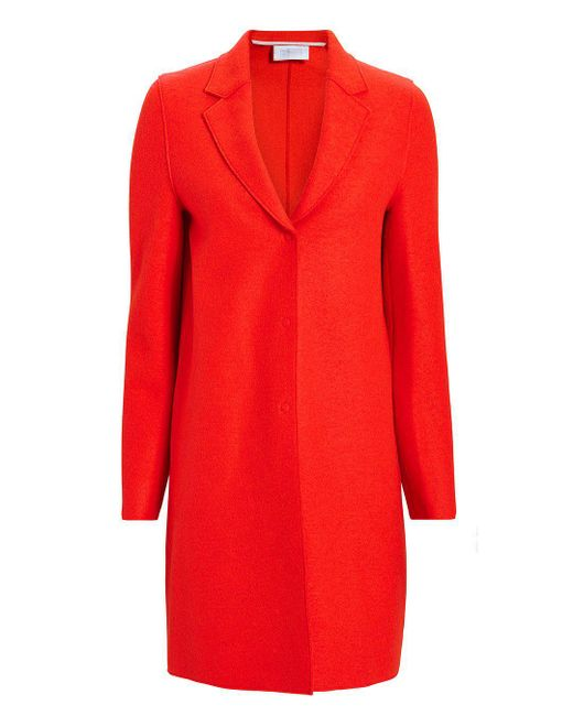 Harris Wharf London - Orange Cocoon Coat - Lyst
