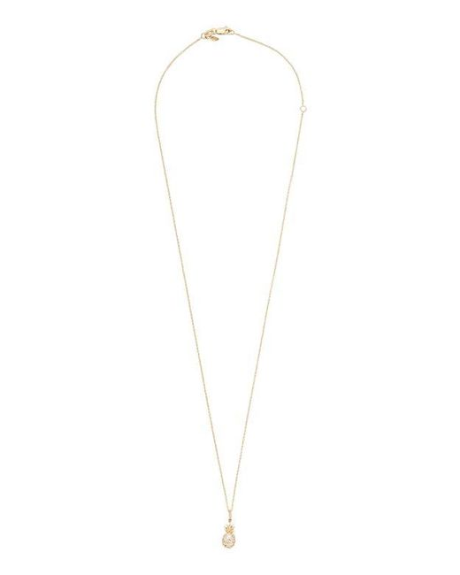Sydney Evan | Metallic Pineapple Diamond Necklace | Lyst