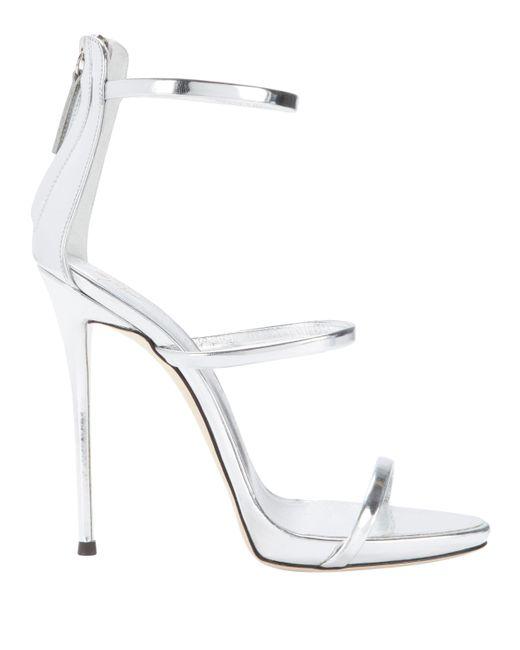 b0172cac42c Lyst - Giuseppe Zanotti Coline Silver Strappy Sandals in Metallic ...