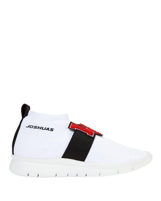 Joshua Sanders - White L.a. Low-top Sock Sneakers - Lyst