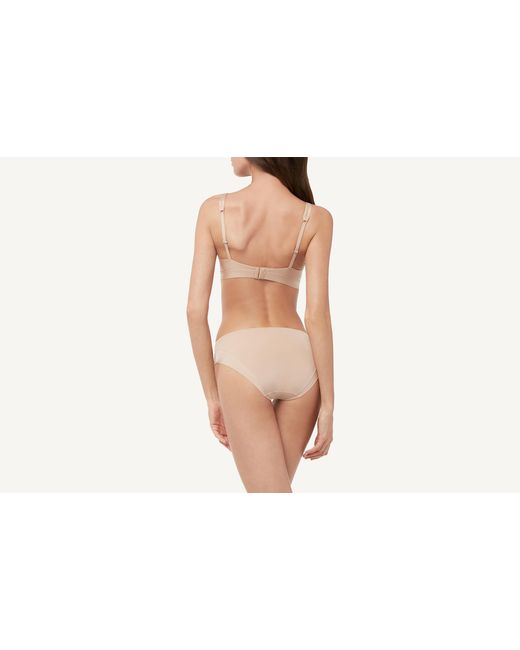 0efe6cee4e7d2 ... Intimissimi - Natural Ultra-lightweight Microfiber And Tulle Triangle  Bra - Lyst ...