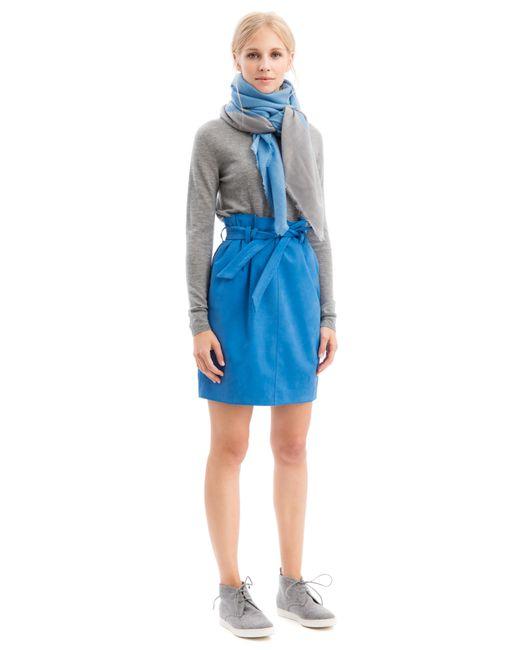iris von arnim tuch earlville in blue azur lyst. Black Bedroom Furniture Sets. Home Design Ideas