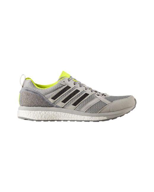 lyst adidas uomini adizero ritmo 9 scarpe da corsa in grigio per gli uomini.