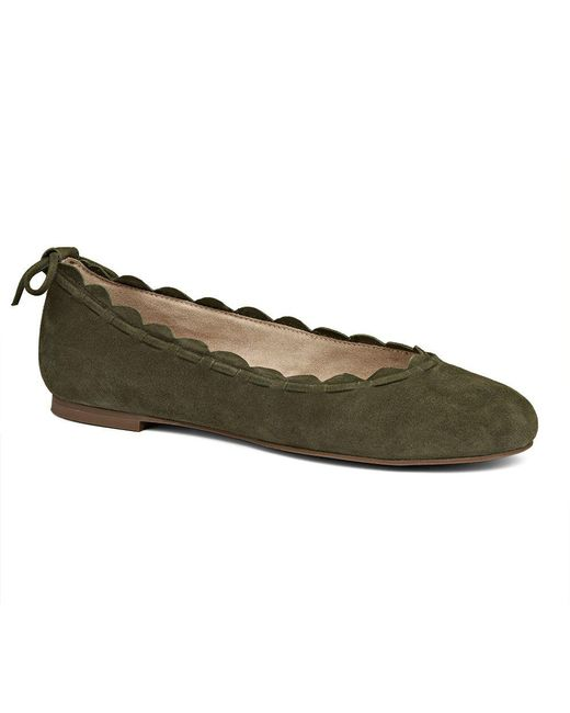 Jack Rogers - Green Lucie Suede Flat - Lyst