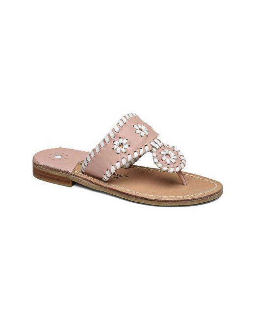 Jack Rogers - Pink Girls' Miss Palm Beach Sandal - Lyst