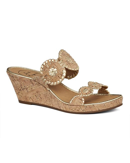 Jack Rogers   Natural Shelby Cork Wedge   Lyst