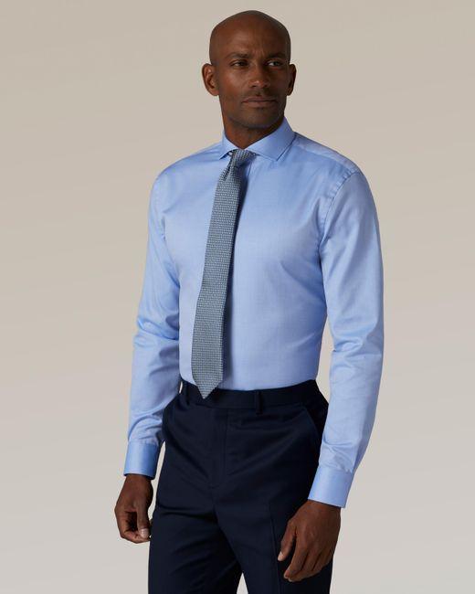 Jaeger Blue Slim Twill Shirt for men