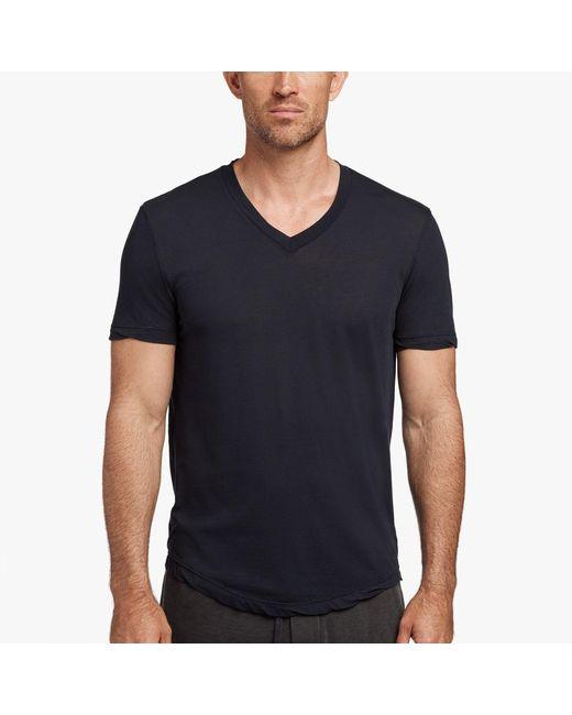 James Perse - Black Clear Jersey V-neck for Men - Lyst
