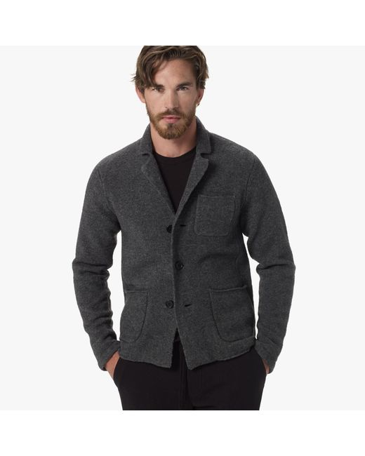 James Perse | Gray Merino Blend Sweater Blazer for Men | Lyst