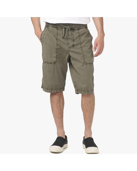 James Perse | Green Cotton Seersucker Utility Short for Men | Lyst