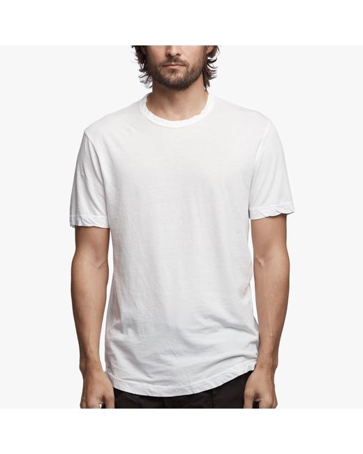 James Perse   White Clear Jersey Crew for Men   Lyst
