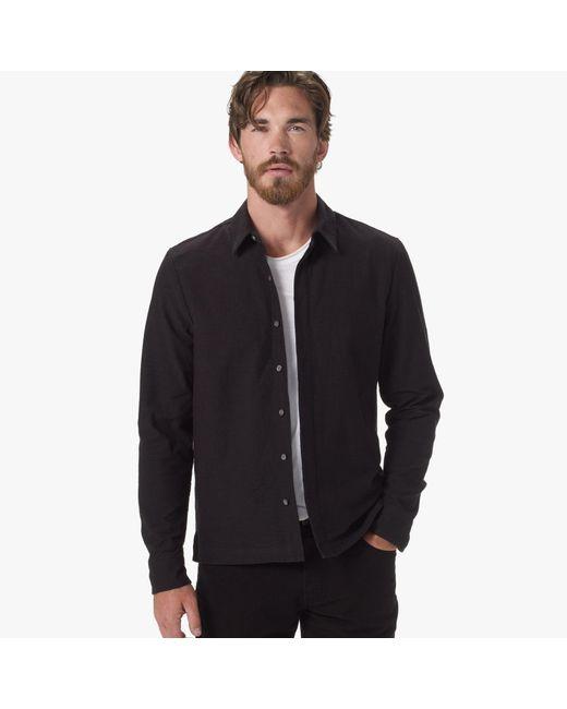 James Perse | Black Textured Jersey Shirt for Men | Lyst