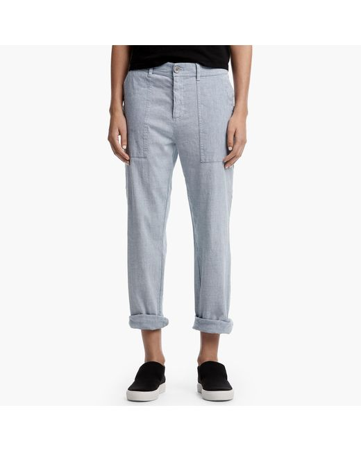 James Perse | Blue Cotton Linen Relaxed Pant for Men | Lyst