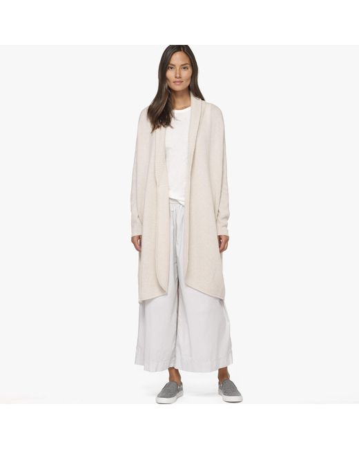 James Perse   White Boiled Cashmere Coat   Lyst