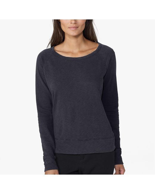 James Perse | Blue Vintage Fleece Long Sleeve Sweatshirt | Lyst