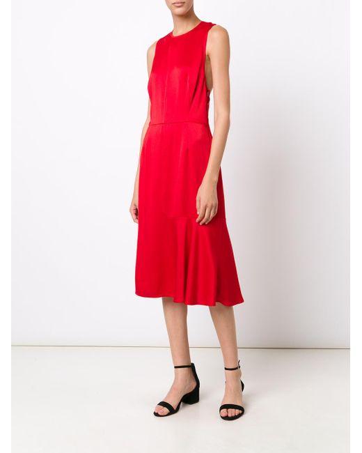 Jason Wu | Red Sleeveless Satin Cocktail Dress | Lyst