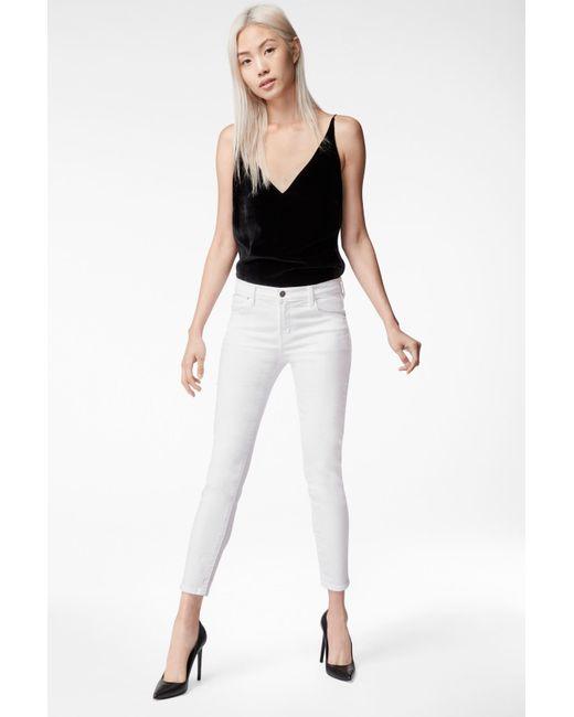f3af3f9270519 Lyst - J Brand Mama J Skinny Maternity Jeans In Blanc in White ...