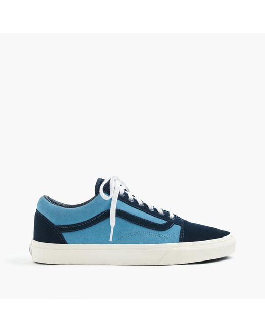 J.Crew | Blue Vans Old Skool Sneakers In Suede for Men | Lyst