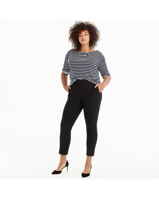 J.Crew - Black Petite Cameron Slim Crop Pant In Four-season Stretch - Lyst