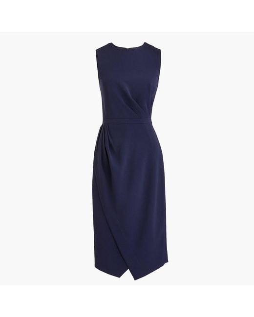 J.Crew - Blue Petite Asymmetrical Sheath Dress - Lyst