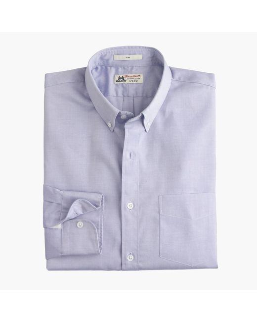 J.Crew | White Slim Thomas Mason Shirt In Pinpoint Oxford Cloth for Men | Lyst