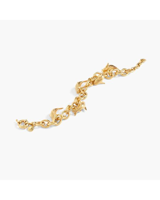 J.Crew | Metallic For The Wildlife Conservation Society Whale Charm Bracelet | Lyst