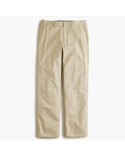 J.Crew | Natural Bowery Classic Pant In Cotton Twill for Men | Lyst