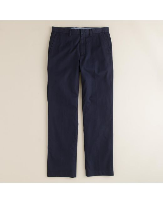 J.Crew | Gray Bowery Classic Pant In Cotton Twill for Men | Lyst