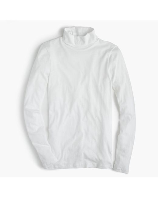 J.Crew | White Tissue Turtleneck T-shirt | Lyst