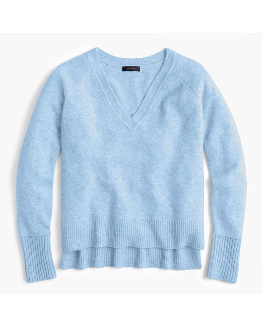J.Crew - Blue V-neck Sweater In Supersoft Yarn - Lyst