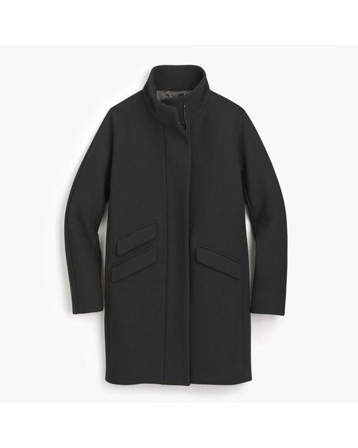 J.Crew | Black Petite Cocoon Coat In Italian Stadium-cloth Wool for Men | Lyst