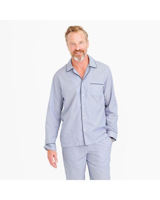 J.Crew | Blue Cotton Poplin Pajama Set for Men | Lyst