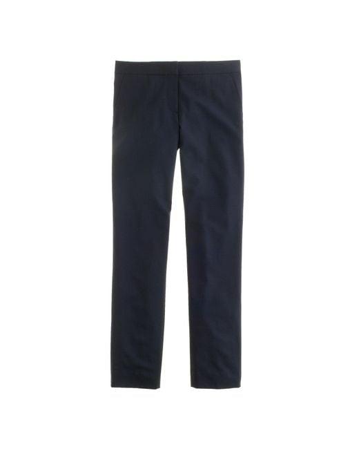 J.Crew | Blue Tall Paley Pant In Italian Stretch Wool | Lyst