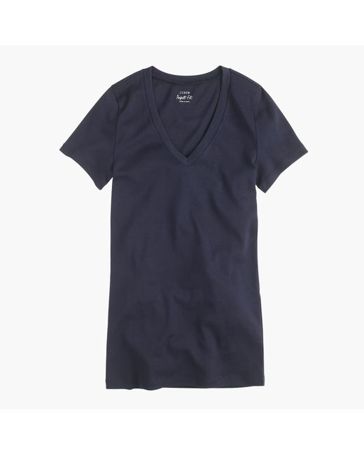 J.Crew - Blue Perfect-fit V-neck T-shirt - Lyst