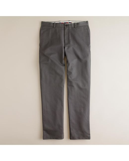 J.Crew | Gray Essential Chino Pant In 770 Fit for Men | Lyst