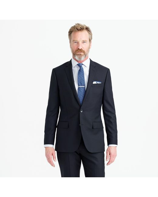 J.Crew | Black Ludlow Suit Jacket With Double Vent In Italian Wool for Men | Lyst