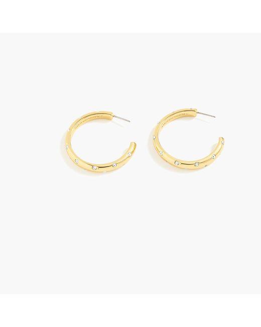 J.Crew - Metallic Alison Lou X Crystal-studded Hoop Earrings - Lyst