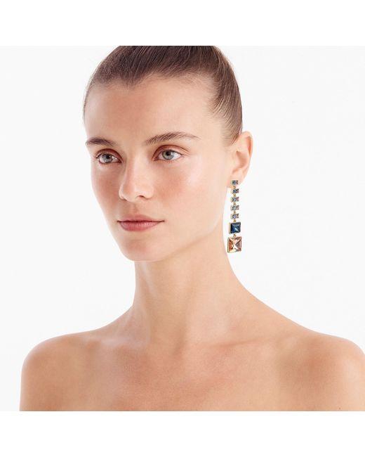 J.Crew - Multicolor Asymmetrical Crystal Drop Earrings - Lyst