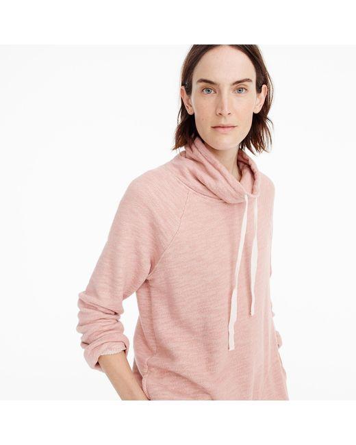 J.Crew   Pink Turtleneck Tunic Sweatshirt   Lyst
