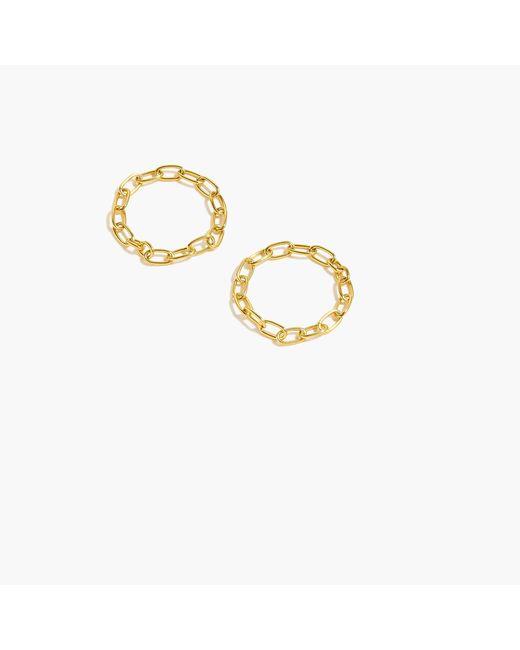 J.Crew - Metallic Demi-fine 14k Gold-plated Chain Ring Set - Lyst