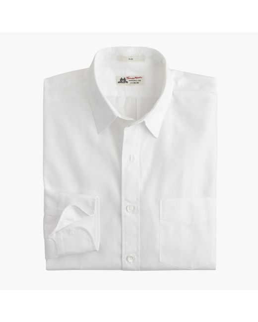 J.Crew | White Slim Thomas Mason Shirt for Men | Lyst